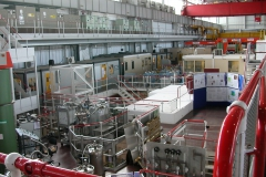Experimental hall of the ISIS spallation neutron source.