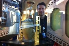 Egyptian Artefact mounted on the neutron beamline